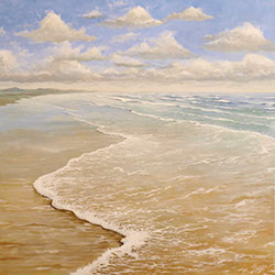 Original seascape painting, acrylic on canvas, by Hastings artist Jon 'Huldrick' Wilhelm.