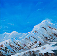 Three valleys original painting by Huldrick