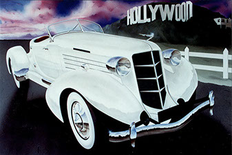 Auburn Speedster original painting by Huldrick