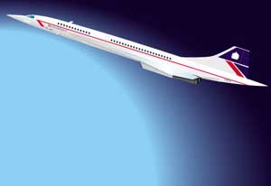 Concorde illustration for promotional literature by Huldrick.