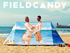 "Fieldcandy ""Wish you Were Here"" Tent design by Huldrick."