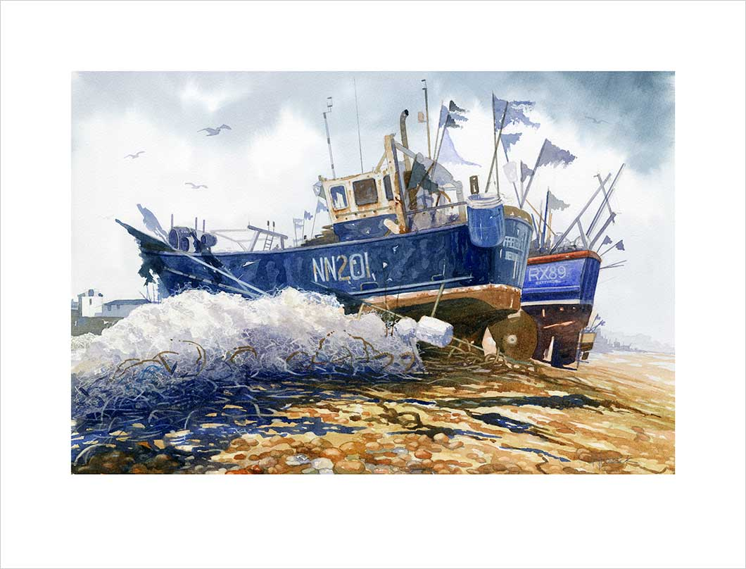 Limited edition print by Hastings artist Huldrick.