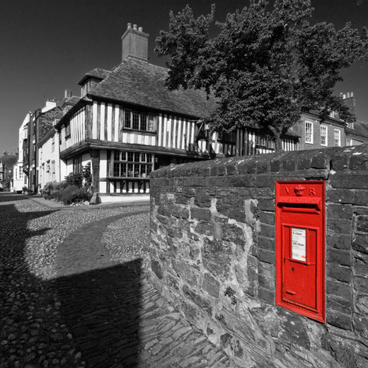 "Photograph of Victorian Postbox in Rye, East Sussex by Hastings Photographer Jon ""Huldrick' Wilhelm."