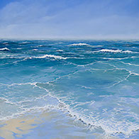 Seascape painting in oil in canvas by Huldrick.